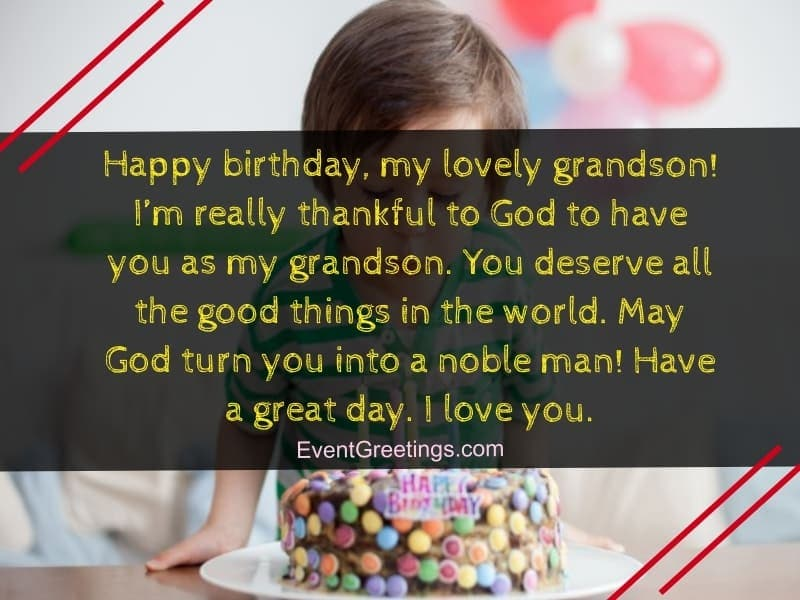 26 Lovely Grandson Birthday Wishes With Cute Greetings Wish Me On