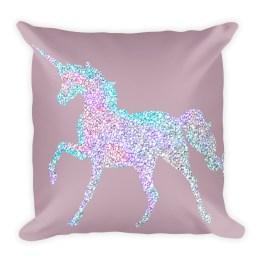 Unicorn Square Pillow