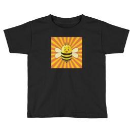 Bee in Sun Rays | Kids Short Sleeve T-Shirt
