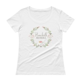 Homebirth Momma Watercolor Wreath | Ladies' Scoopneck T-Shirt