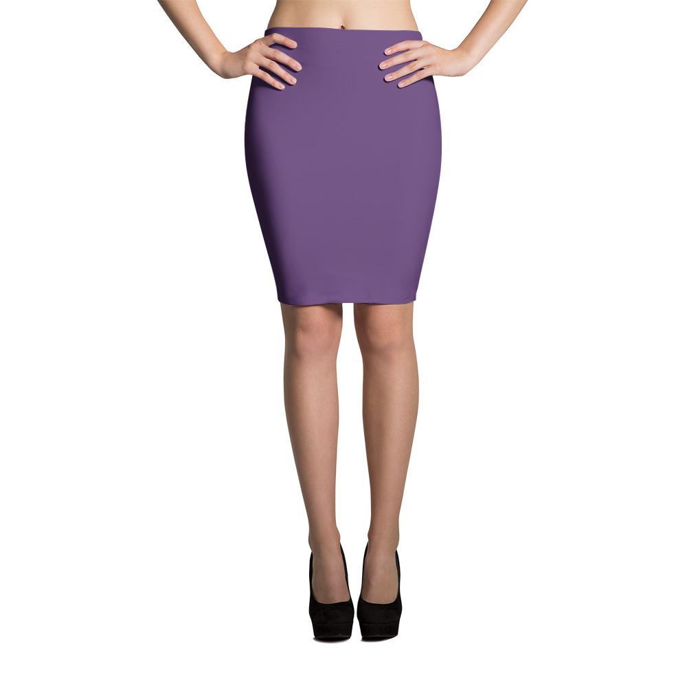 fa8e9c1349d Dark Purple Pencil Skirt – Wish Pickle – Hipster Clothing