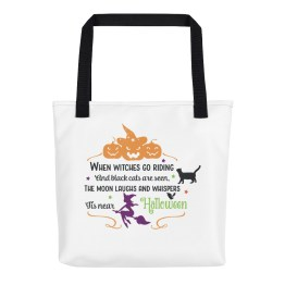 When Witches Go Riding, Halloween Tote bag