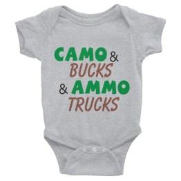 Camo & Bucks Ammo and Trucks Infant Bodysuit