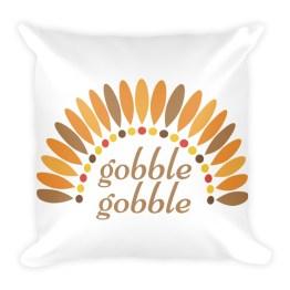 Gobble Gobble Square Pillow