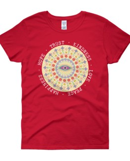 Hippie Flowers Mandela Peace Love and Happiness | Women's short sleeve t-shirt