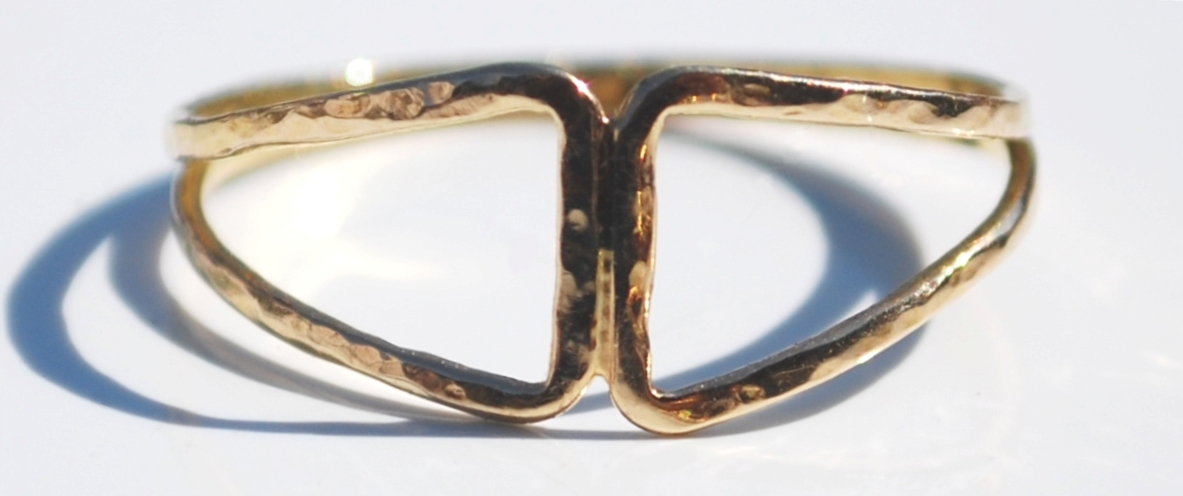 open triangles ring front re-F