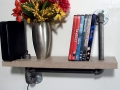Concrete and Black Pipe shelf