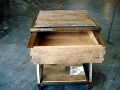 Reclaimed Night Stand Open