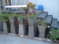 Row of Concrete Planters