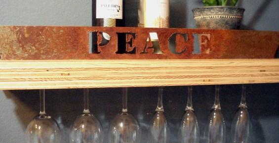 Peace Plywood shelf