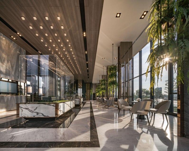 The Politan Aqua by Everland • Architects » Palmer & Turner Thailand • Landscape Architects » XsiteDesignStudio • Interior Architects » Collab+T Design