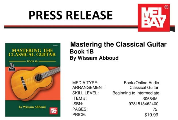 Mastring the Classical Guitar 1B Press Release - Wissam Abboud