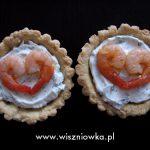Tartaletki z krewetkami i nadzieniem serowo-ziołowym