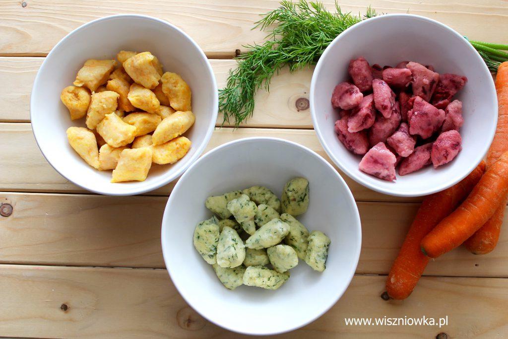 Kolorowe kopytka z warzywami, czyli obiad dla dzieci