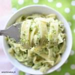 Tagliatelle w sosie śmietanowo-brokułowym