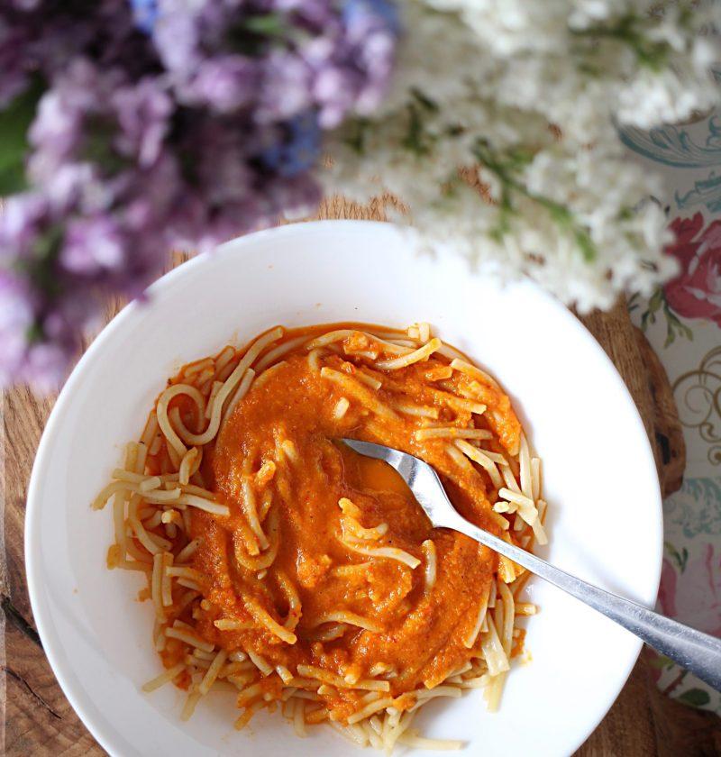 spaghetti bez mięsa