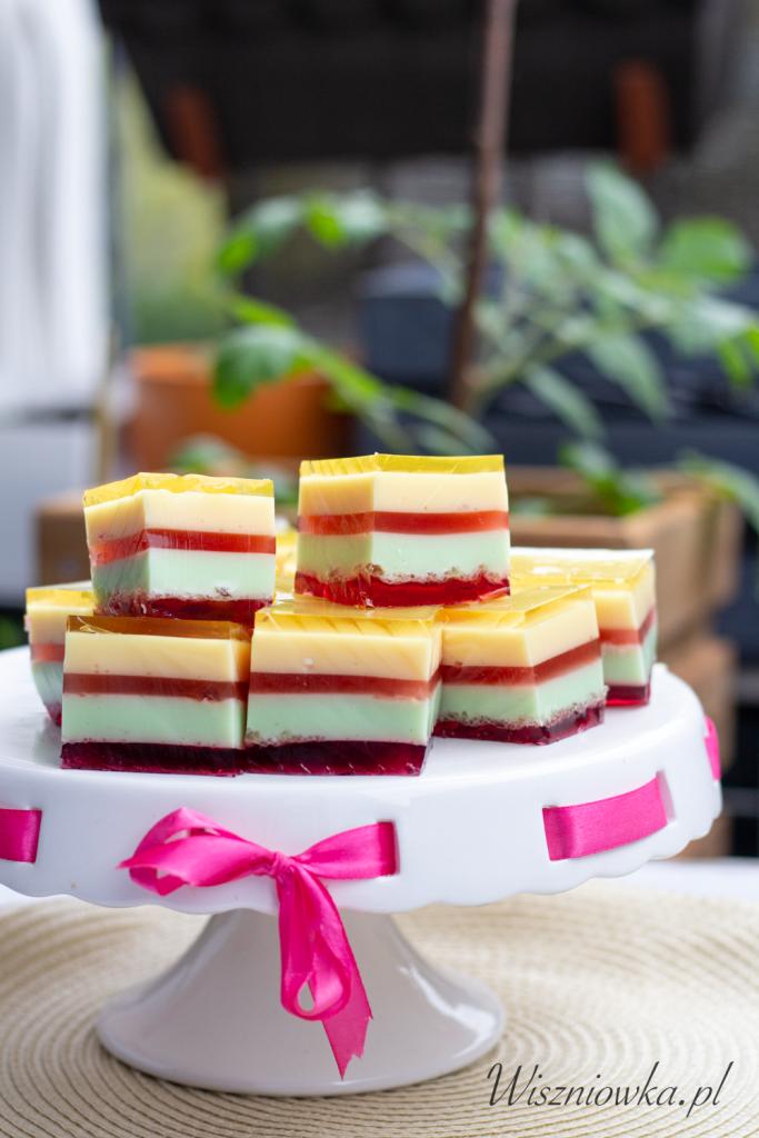 ciasto z serków homogenizowanych i galaretki