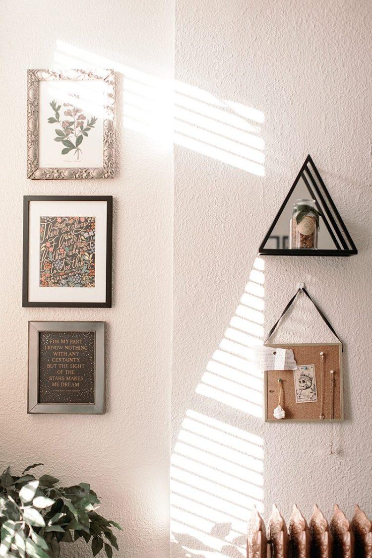 frames wall decor studio apartment wit & delight