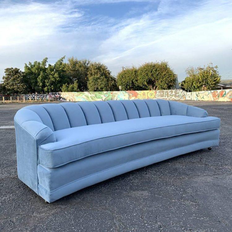 Blue Velvet Sofa Wit & Delight