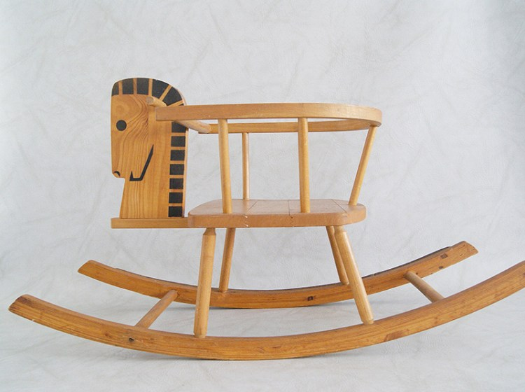 Mid-Century Wooden Rocking Horse Wit & Delight