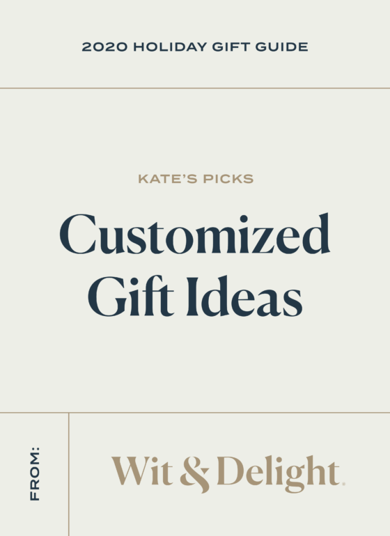 W&D 2020 Holiday Gift Guide: 11 Customized Gift Ideas
