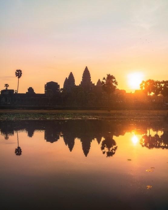 Angkor Wat at Sunrise Portrait