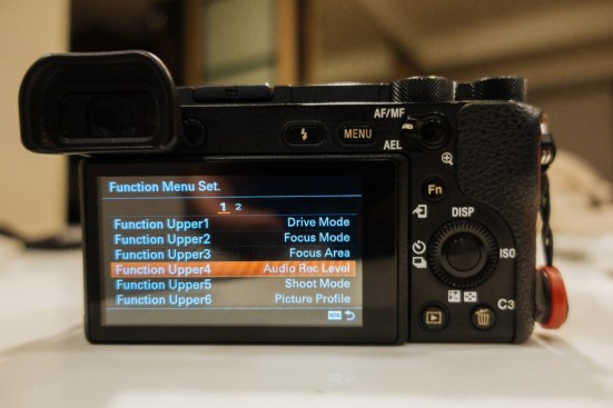 After Customizing Function Menu Set on Sony a6500 - sony a6500 audio settings - witandfolly.co