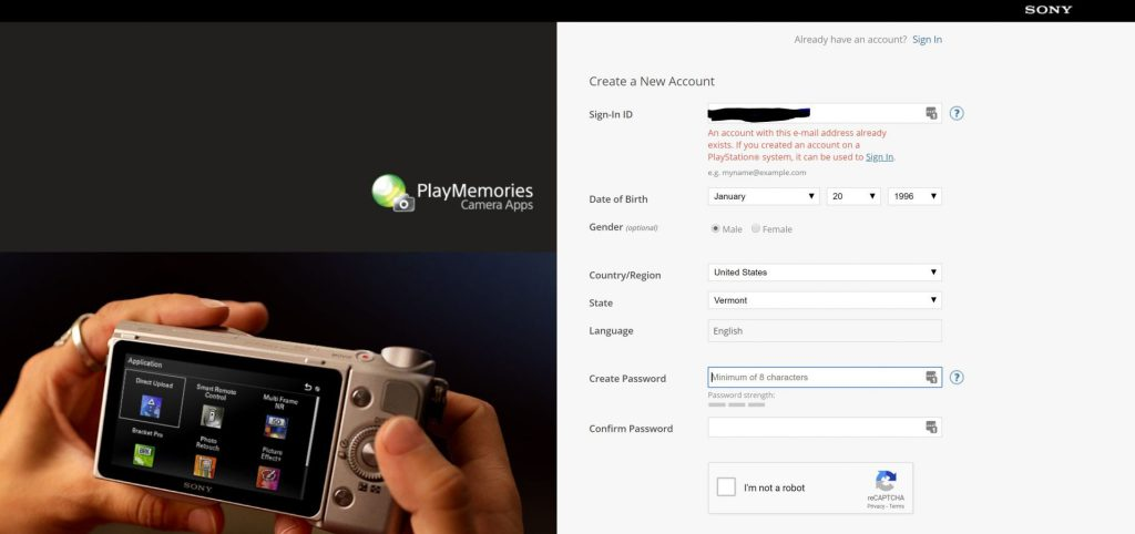 Already Have A Sony Account - witandfolly.co