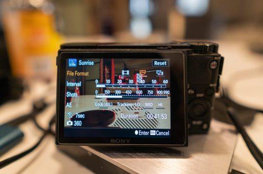 Sony PlayMemories Application Time Lapse Application Settings Menu