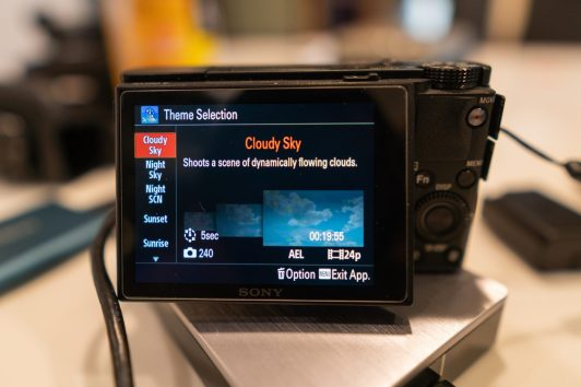 Sony PlayMemories Time Lapse Theme Selection Menu - witandfolly.co