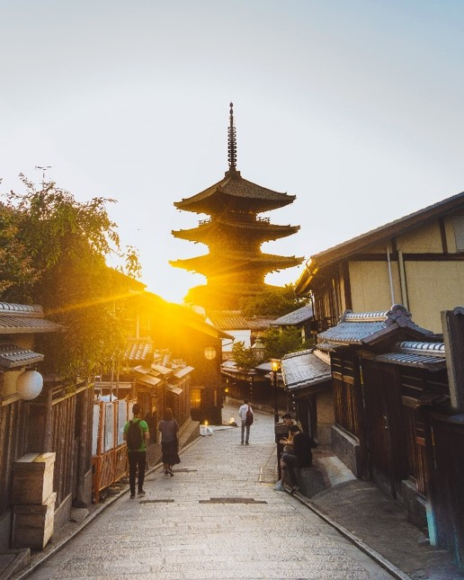 Gion Street in Kyoto at Sunset - witandfolly.co