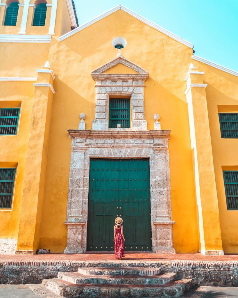 In front of the Church of Holy Trinity in the Getsemani neighborhood of Cartagena - witandfolly.co