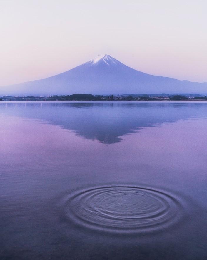 Mount Fuji Reflection at Sunrise Image #2 - witandfolly.co