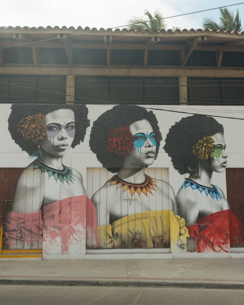 Mural in Getsamni Neighborhood of Cartagena - witandfolly.co-1