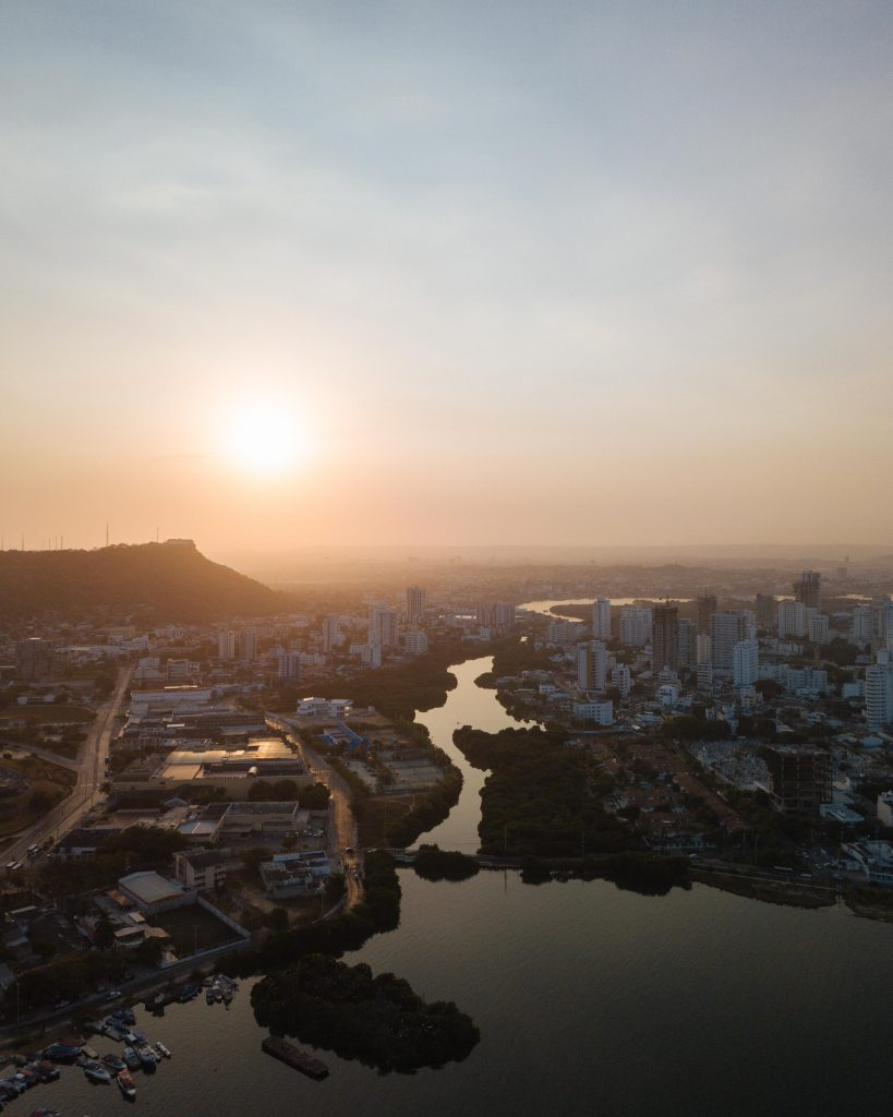 Sunrise over Cartagena from Drone - witandfolly.co-1