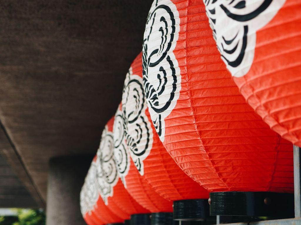 red lanterns hanging