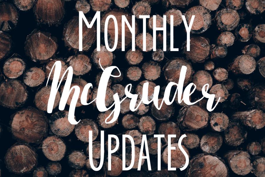 monthly mcgruder updates