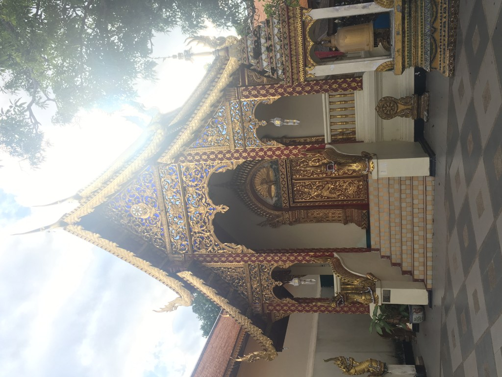 Beautiful and ornate building at Wat Doi Suthep in Chiang Mai, Thailand.