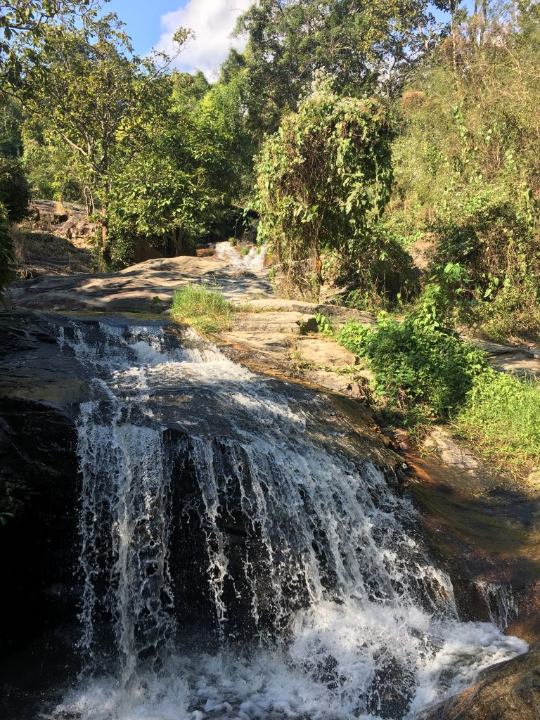 View of small Pha Ngoep Waterfall in the mountains of Chiang Mai, Thailand.
