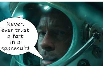 Brad Farts in his Space Suit