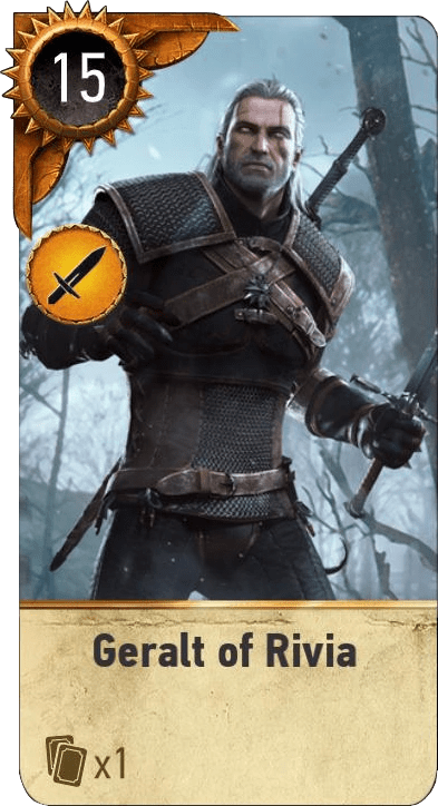 Geralt Of Rivia Gwent Card The Official Witcher Wiki