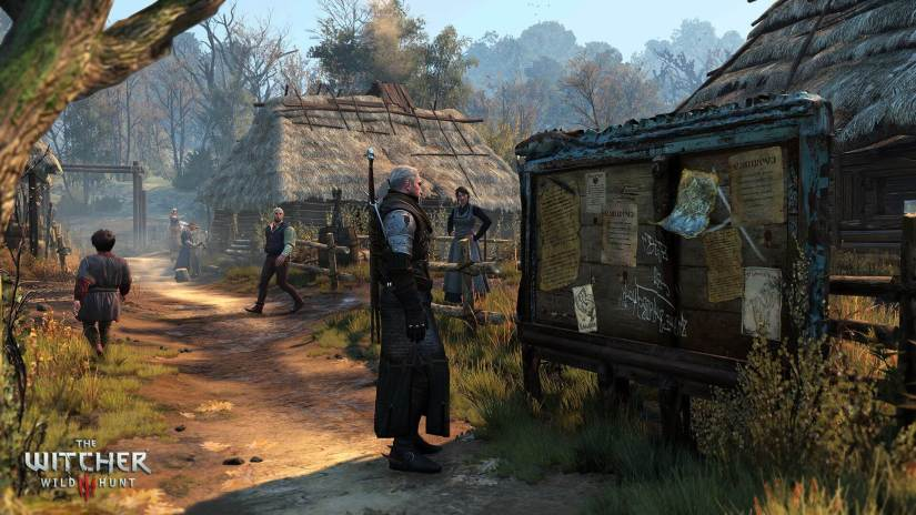 The Witcher 3: Wild Hunt Geralt vs Quest Board Screenshot