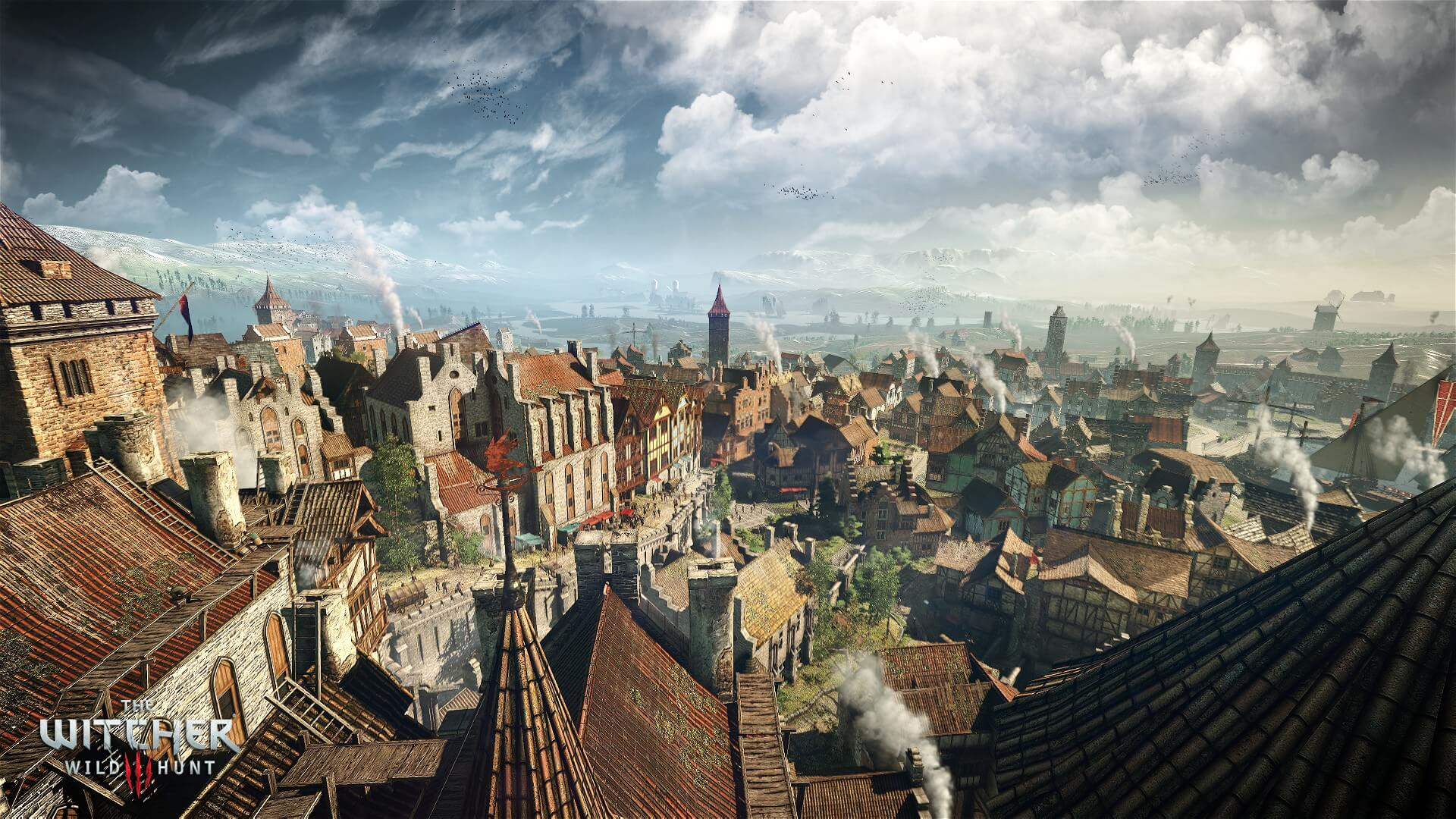 The Witcher 3: Wild Hunt City Screenshot
