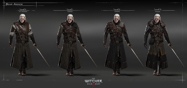 Witcher 3 Wild Hunt Geralt Armor Designs