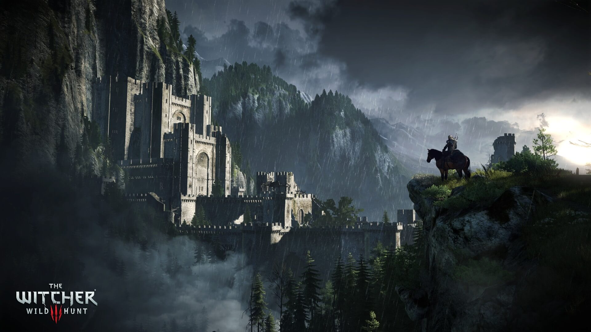The Witcher 3: Wild Hunt Castle in the Forest Environment Screenshot