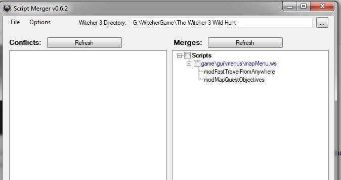script merger witcher 3 fix error mod