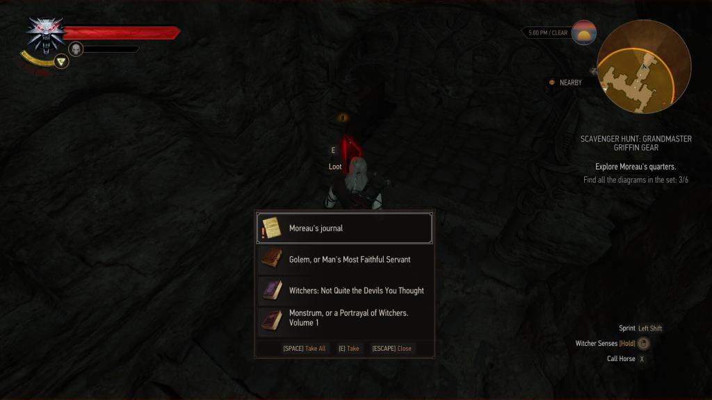grandmaster griffin gear scavenger quest moreau