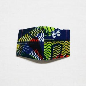 🤝完売🤝【夏 リネンマスク】アフリカンプリントマスク #13-12 多色使いでバランスを取りやすい1枚