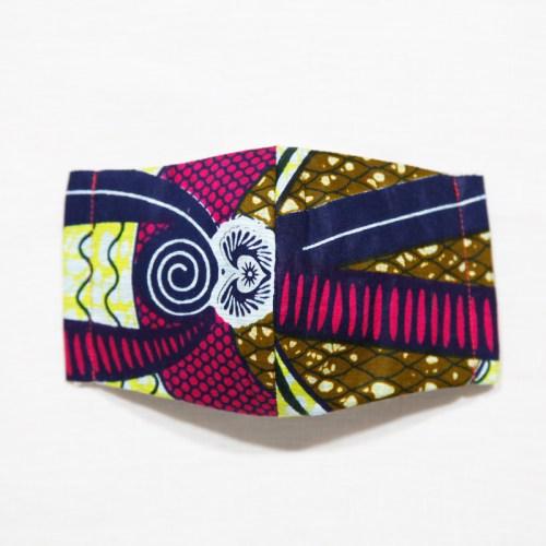 🤝完売🤝【夏 リネンマスク】アフリカンプリントマスク #14-1-7 あらゆる世界観が詰まった魅惑のデザイン