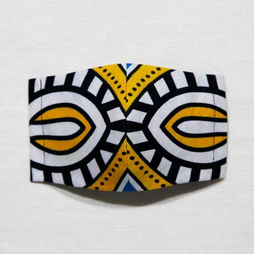 【夏 リネンマスク】アフリカンプリントマスク #14-2-17 アフリカンにおもいっきり目立ってください!
